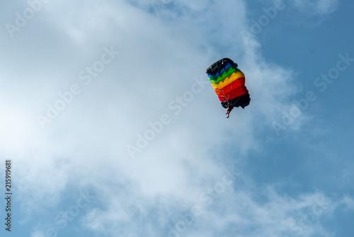 Foto op Canvas Luchtsport colour parachute in sky