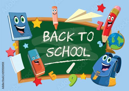 Obraz na plátne back to school chalkboard