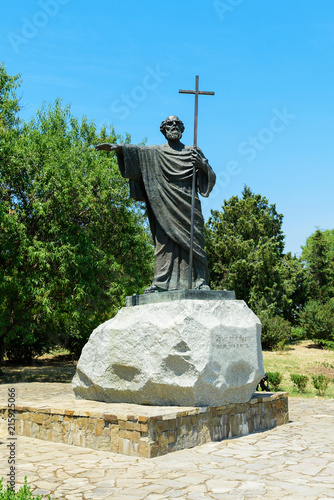 Tuinposter Monument beautiful view on monument to Apostle Andrew in Chersonese Tavrichesky, Sevastopol, Crimea