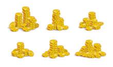Golden Coins Stack Set.