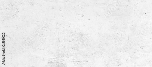 Poster Beton White plastered wall background