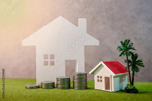 Carta da parati Real estate investment or Home mortgage loan rate