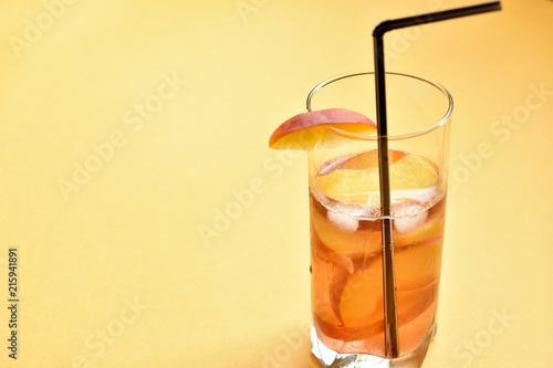 refreshing peach drink