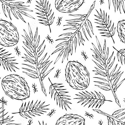 bezszwowe-bialy-szkic-dzungli-oddzialow-wzor-tekstury-wydruku-na-bialym-tle