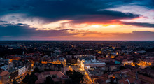 Timisoara Downtown Aerial View...