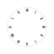Vintage Clock Face With Roman ...