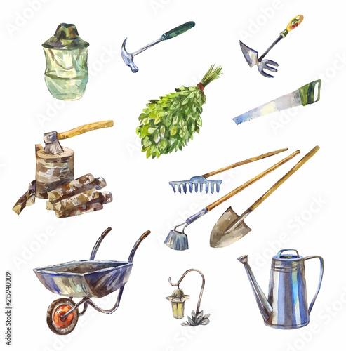Canvas Garden or garage instruments or tools