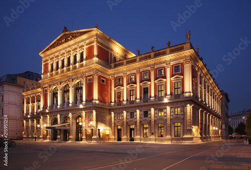 In de dag Theater Wiener Musikverein in Vienna. Austria