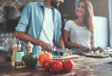 Romantic Couple On Kitchen
