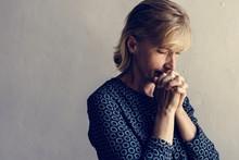 Caucasian Woman Prayer Faith I...