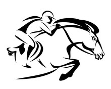 Woman Riding A Horse - Show Ju...