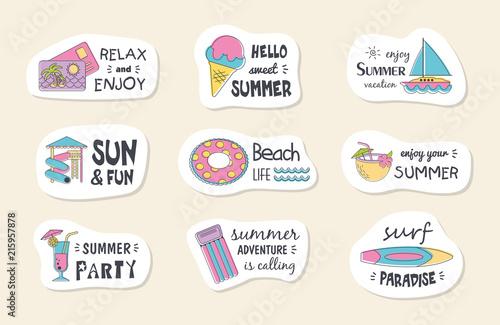 Summer poster card. © nasik