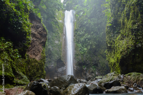 Poster Watervallen Asian jungle waterfall - Casaroro Falls on tropical island Negros. Philippines - Dumaguete, Valencia.