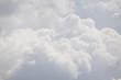 Leinwandbild Motiv white cloud texture and background, grey sky