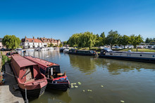 Narrow Boats In Ely, Cambridge...