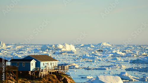 Fond de hotte en verre imprimé Pôle Ilulissat. Greenland