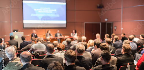 Fotografie, Obraz  Round table discussion at Business convention and Presentation