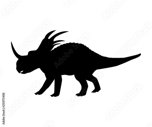 Styracosaurus silhouette dinosaur jurassic prehistoric animal Wallpaper Mural