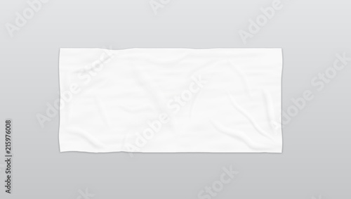 Leinwand Poster Clear White Soft Beach Towel For Branding