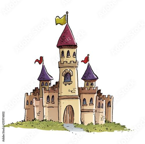 castillo medieval Canvas Print
