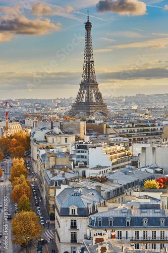 Papiers peints Paris Aerial panoramic cityscape view of Paris, France