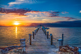 Fototapeta Sunset - Islamorada Florida Keys Dock Pier Sunrise