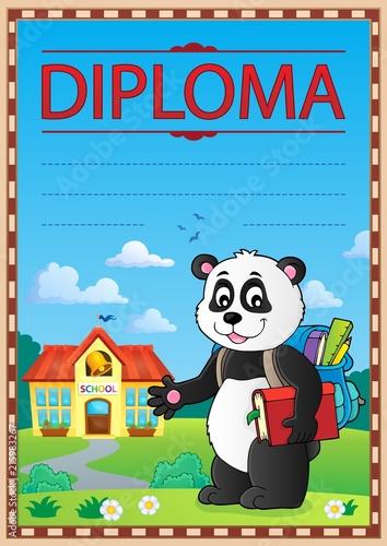 Foto op Plexiglas Voor kinderen Diploma design image 4