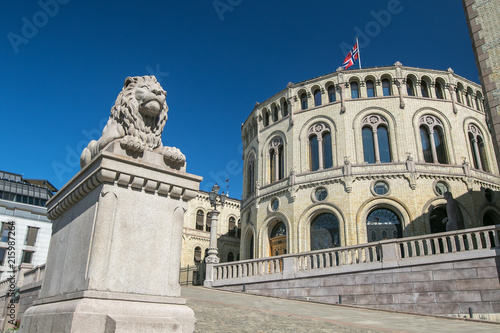 Stampa su Tela Norwegian Parliament