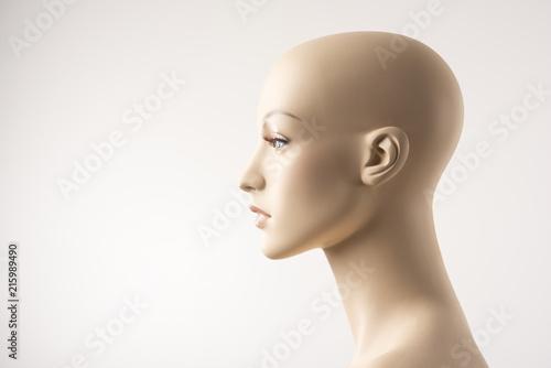 Female Mannequin Face Profile Wallpaper Mural