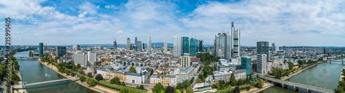 Leinwand Poster Luftbild Frankfurt am Main Innenstadt
