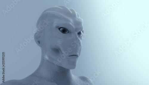 Photo  3d alien portrait