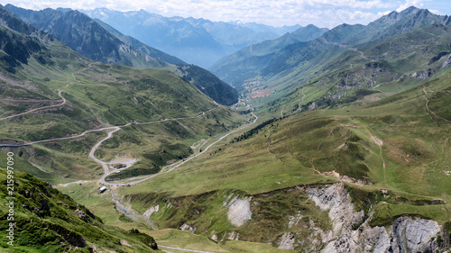 Photo view of Col du Tourmalet in pyrenees mountains