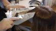 Hair coloring in the barber shop