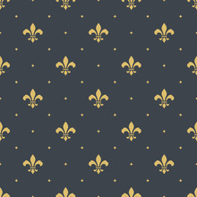 Fleur-de-lis Seamless Pattern Background