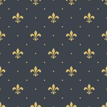 Fleur-de-lis Seamless Pattern ...