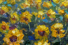 Impressionism Sunflowers Palet...