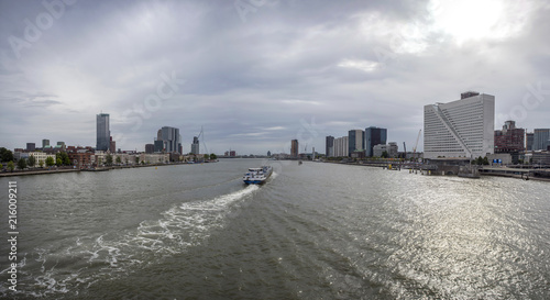 Staande foto Rotterdam City of Rotterdam downtown skyline in South Holland, the Netherlands.