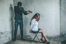 Bandit With Masked Holding Gu...