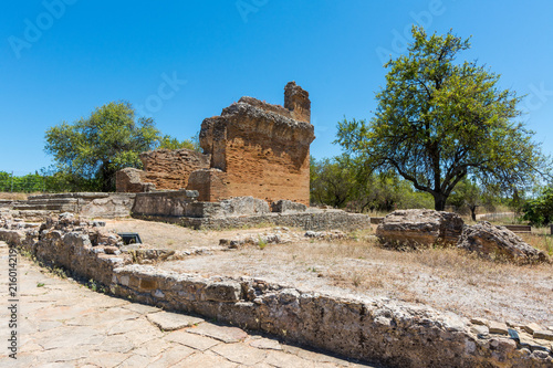 In de dag Rudnes Roman ruins of Milreu, Estoi, Algarve, Portugal