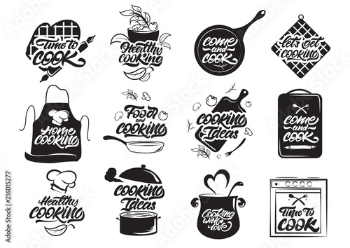 Fotografía Cooking logos set