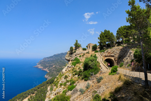 Foto op Plexiglas Tunnel The tunnel on the West coast of Mallorca, Spain