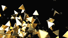 Abstract Background With Golden Pyramidal Particles