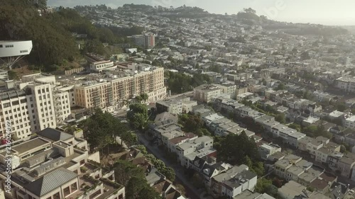 Stock Video of Aerial 4k UCSF Parnassus Forest Mountain Hills at