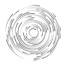 Black Swirl Shape, Abstract Il...