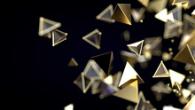 Abstract Pyramidal Golden Particles
