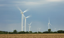 Wind Turbines On The Plains Of Oklahoma