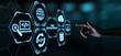 canvas print picture - Web Development Coding Programming Internet Technology Business concept
