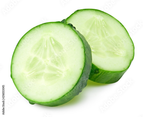 Photo  Cucumber isolated on a white