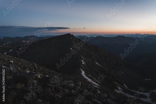 Fotobehang Grijze traf. Landscape view of Torrey's Peak in Colorado during sunrise.