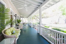 Porch With Green Floor